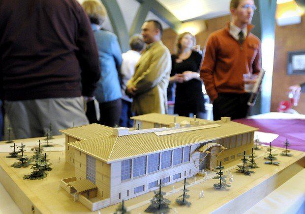 A model of a planned building for Missoula College