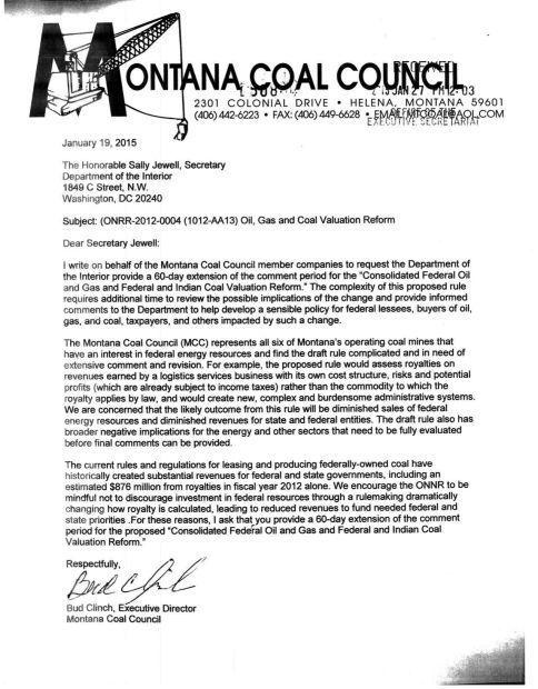 Montana Coal Council