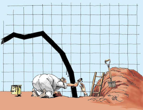 Economists digging for curve