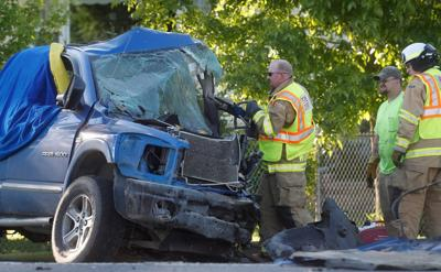 Two men die in Huntley crash
