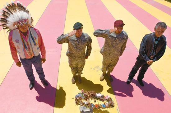 Paratroopers help Crow Tribe honor veterans