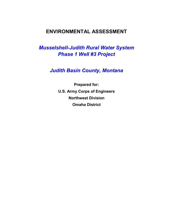 Environmental assessment for well