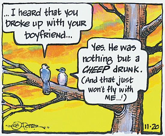 Fruit-loving birds are flying drunk