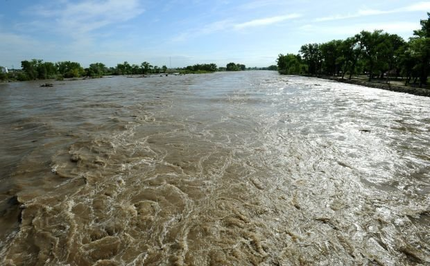 Yellowstone River at flood stage