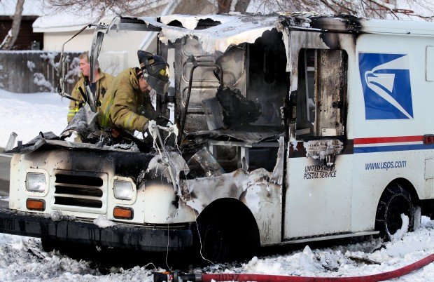 Mail Truck Catches Fire In The Heights Local News