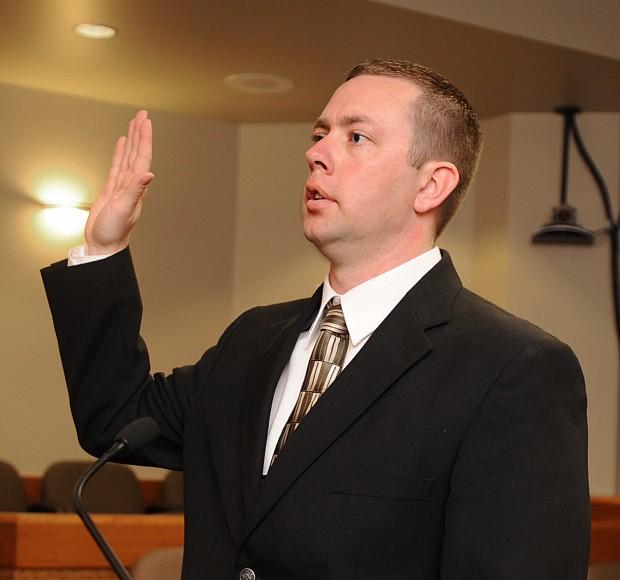 Timothy Doll takes oath