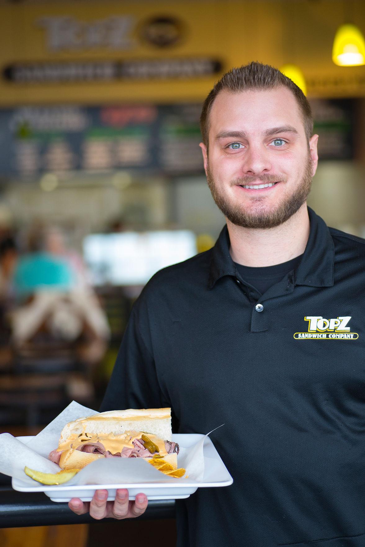Tucker Veltkamp of TOPZ Sandwich Company