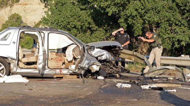 four minors injured when truck is impaled on i 90 guardrail local. Black Bedroom Furniture Sets. Home Design Ideas