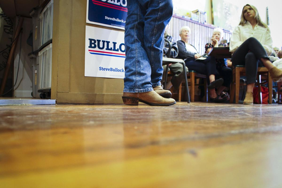 Bullock speaks with Iowa Democrats