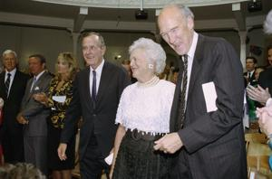 George Bush and Sen. Alan Simpson