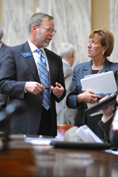 Mock legislative session
