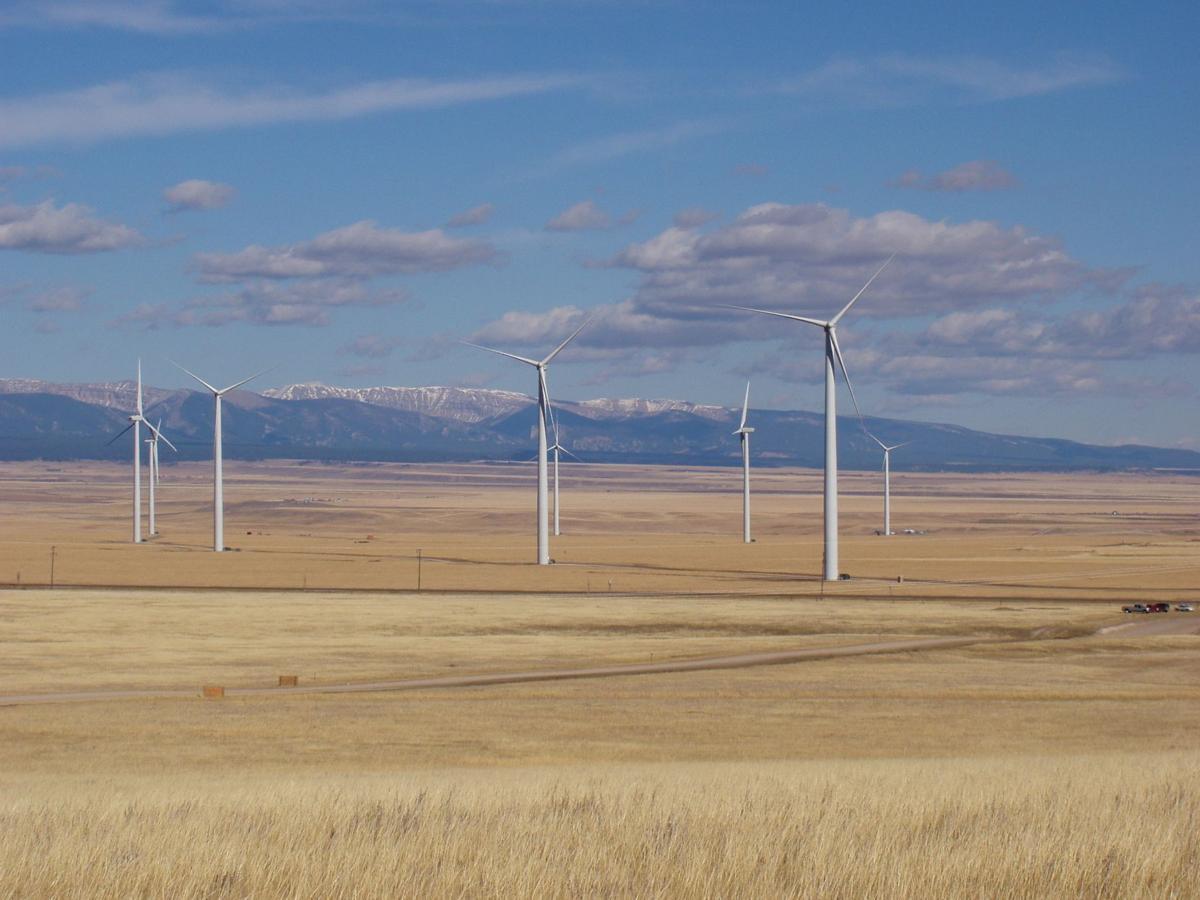 Wind farm near Judith Gap