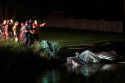 Fatal crash submerged in ditch