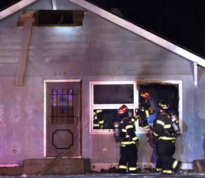 Riverside house fire