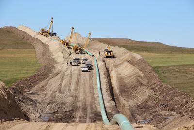 Dakota Access Pipeline construction site