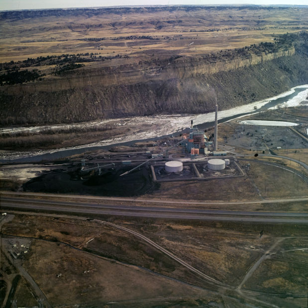 Corette power plant, 1977