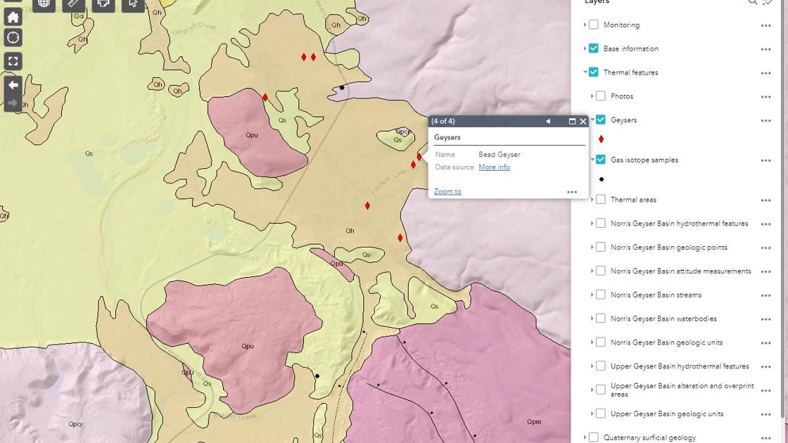 Caldera chronicles: New interactive map highlights Yellowstone's geology