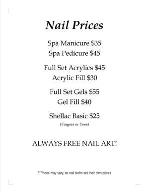 Nail Prices