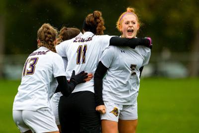 Laurel celebrates a goal