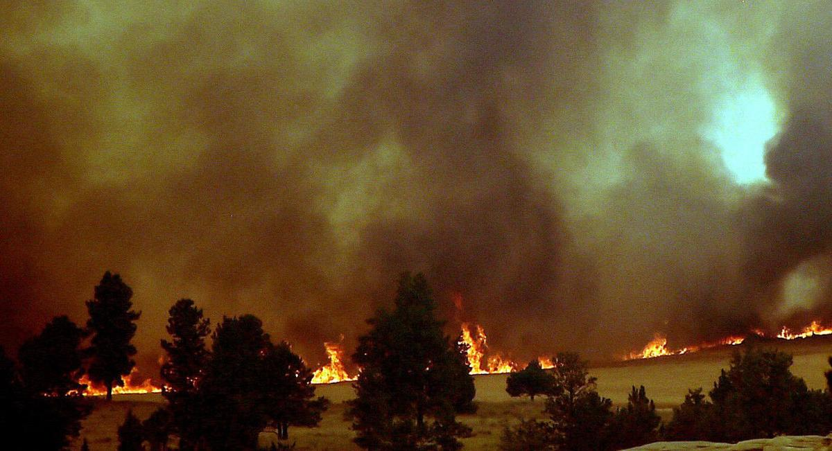 Bull Mountain fire scene