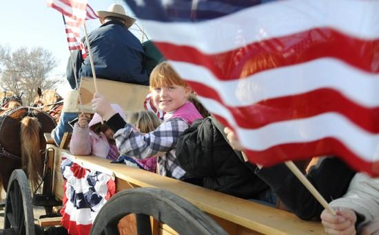 Youngsters impress vets at parade