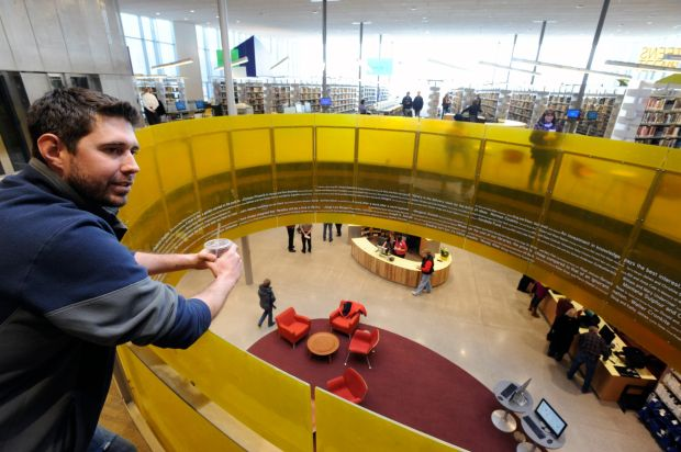 Clinton Kauffman, the project engineer on the Billings Library