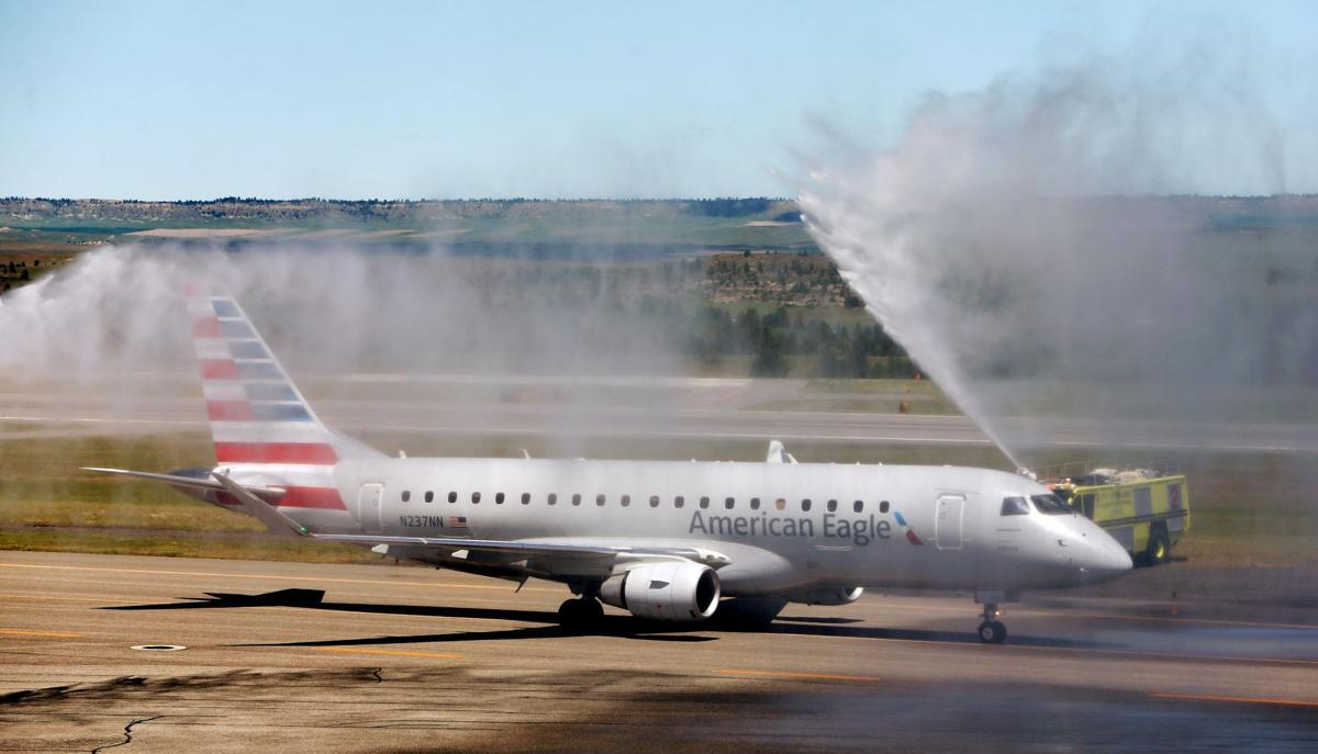 The first non-stop flight on American Airlines