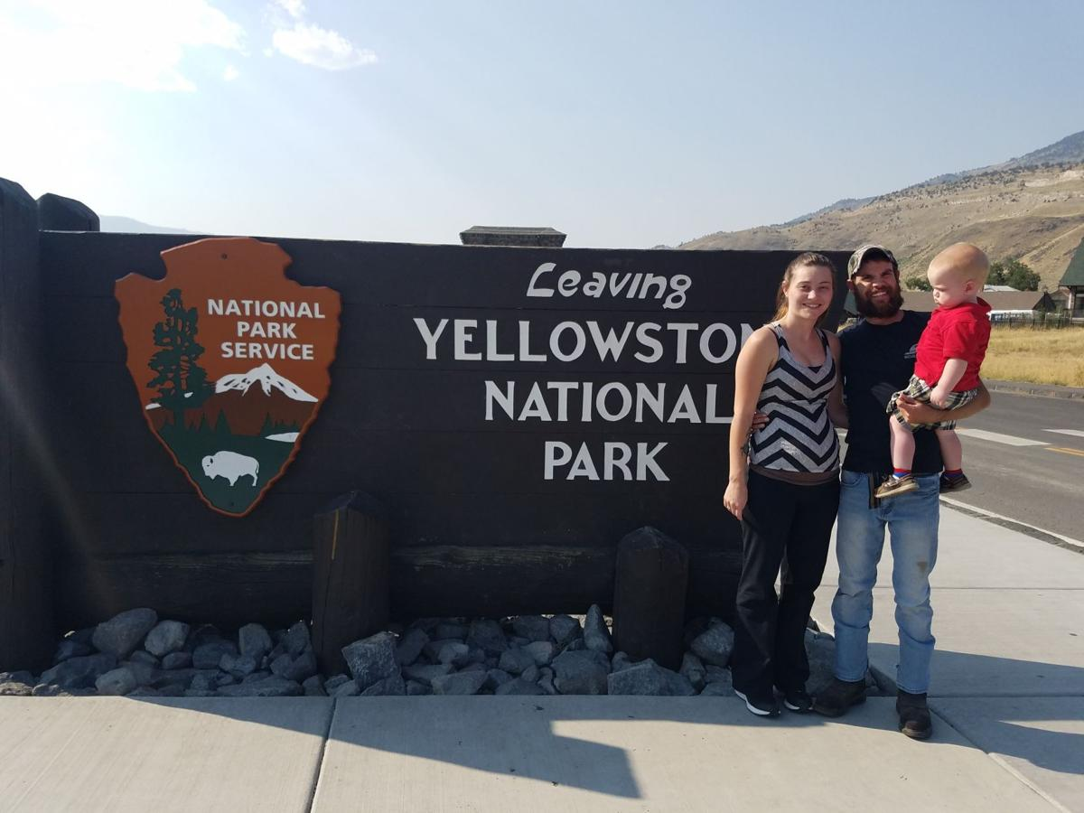 James Gibbs and his family, on a recent trip to Yellowstone.