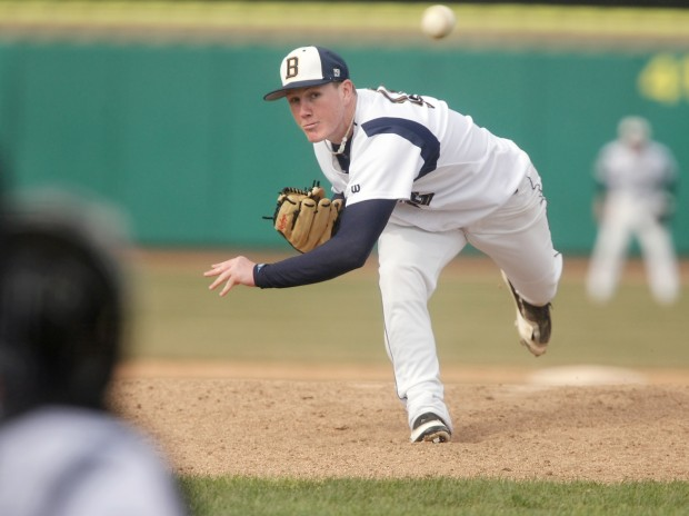 Kody Kennedy of MSUB pitches