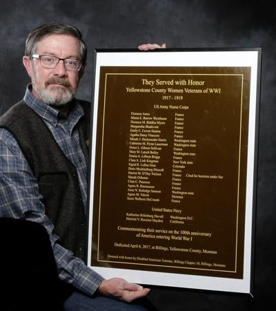 Ed Saunders and WWI plaque