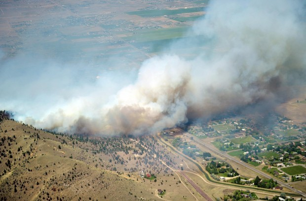 Corral fire fly-over