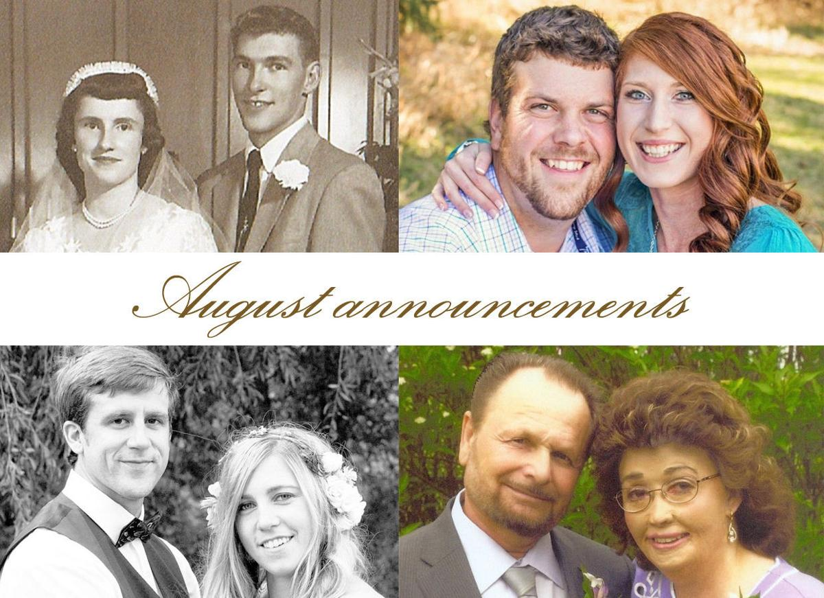 august anniversaries engagements and weddings announcements