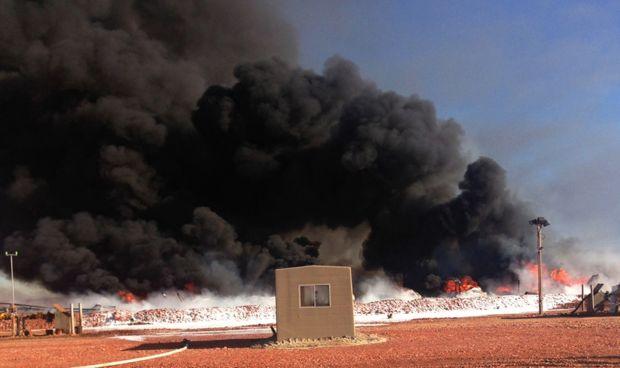 Explosion southwest of Alexander, N.D.