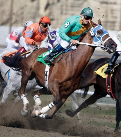 Jockey Jeffery Allen Jones rides Double Credit