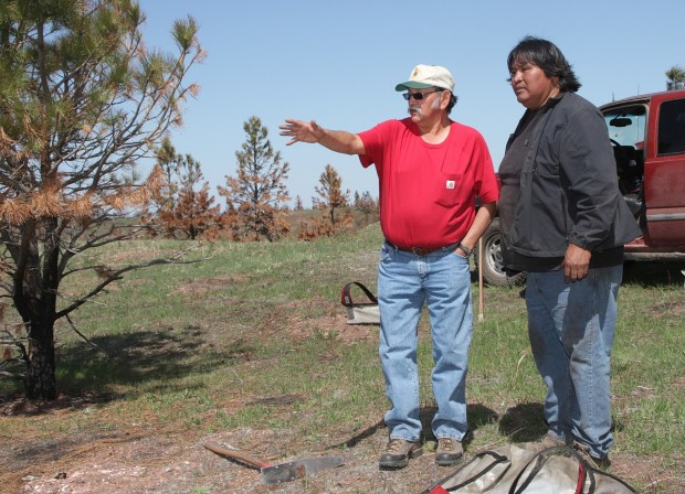 Terry Spang and Tree Planting Crew Chief Jerome Whitehawk