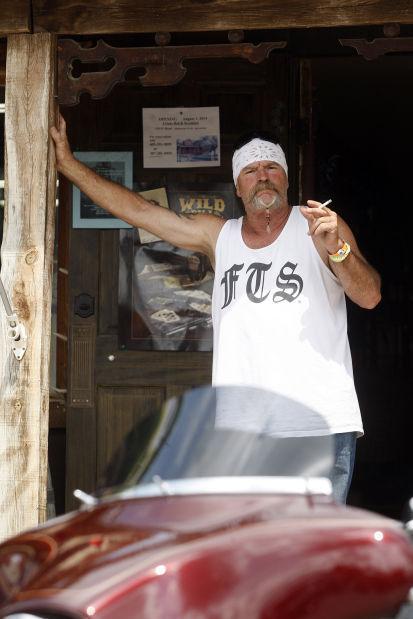 Greg Woodland enjoys a cigarette
