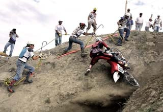 Catch a falling cycle: When rider's work ends, catchers' begins