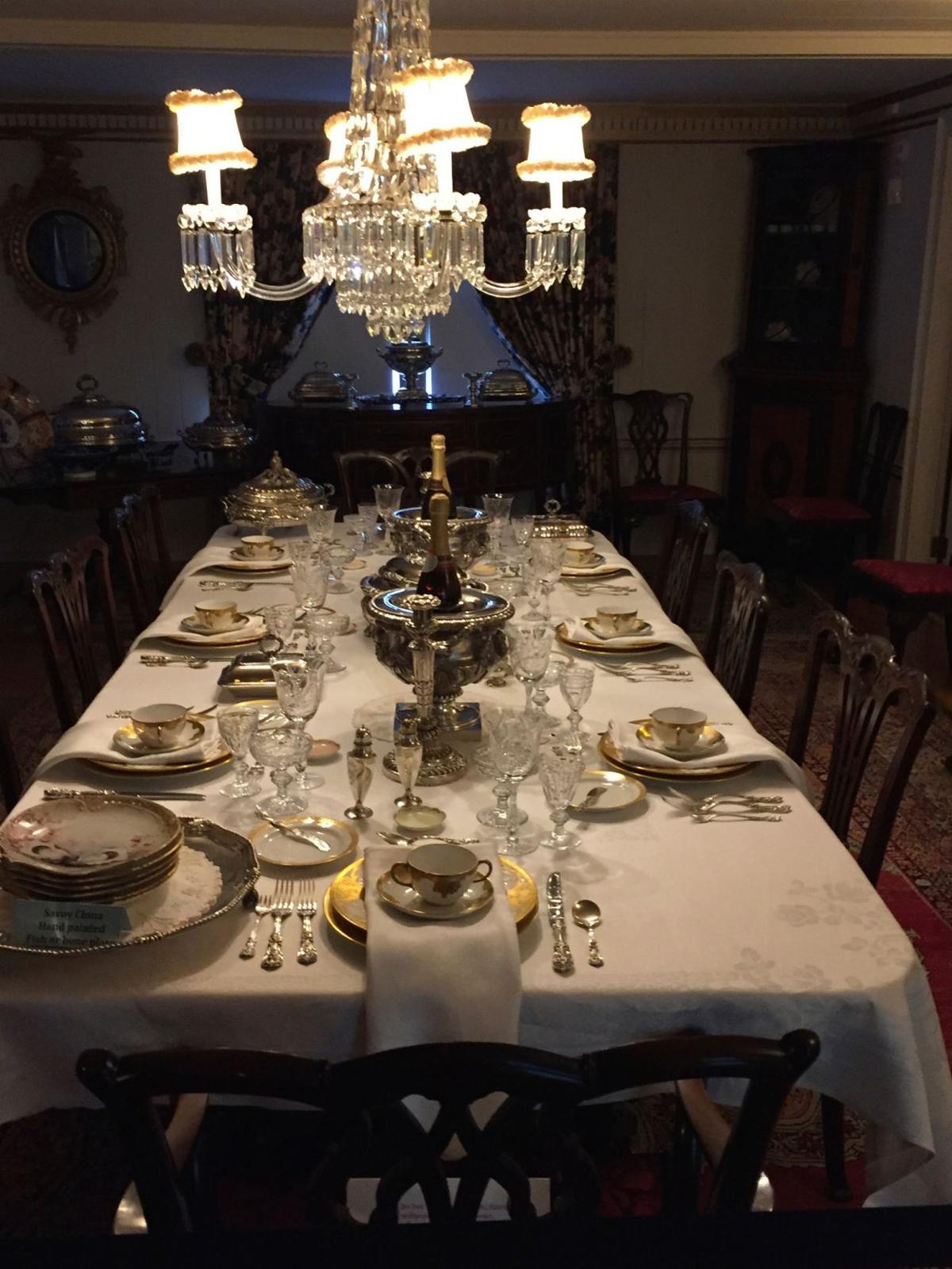 Bair Family Museum formal dining table