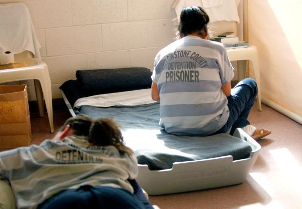Female inmates at the jail