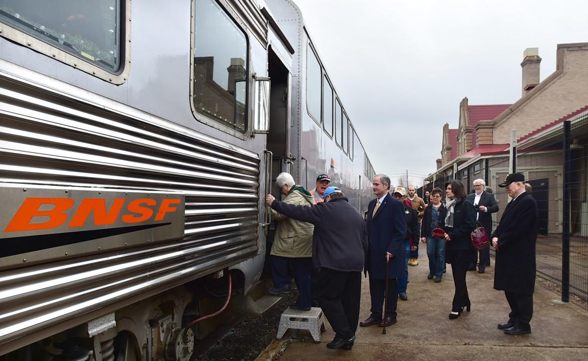 Holiday train loading