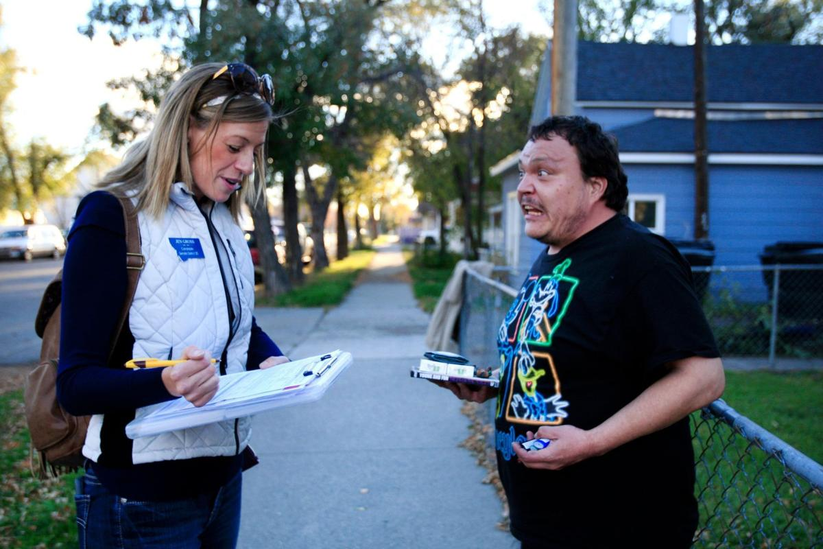 Jen Gross and South Side resident Clint Donnafield