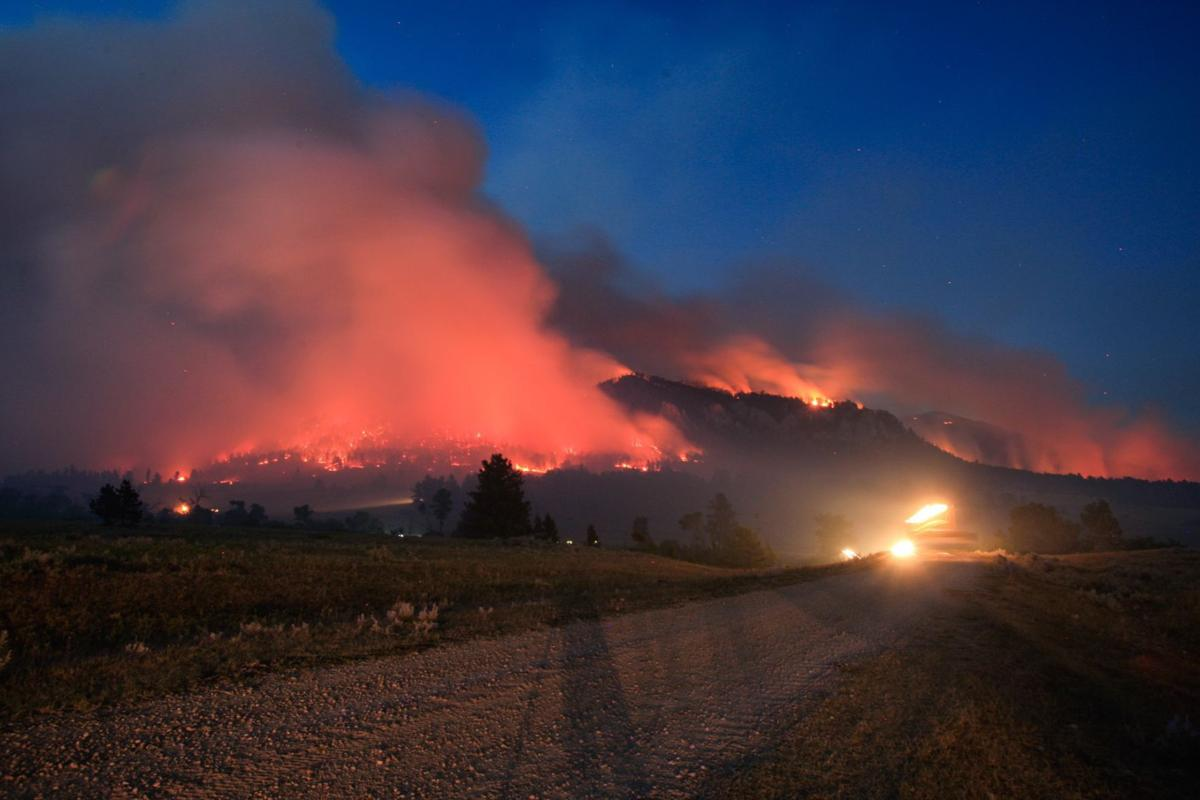 photos crews battle july fire near tiny montana town montana