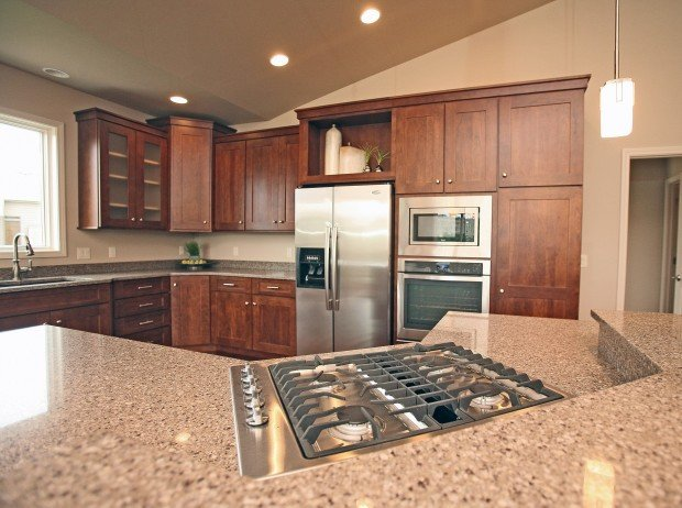 The kitchen in the Buscher Construction home