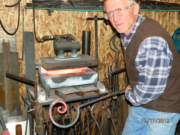 Frank Annighofer works a forge