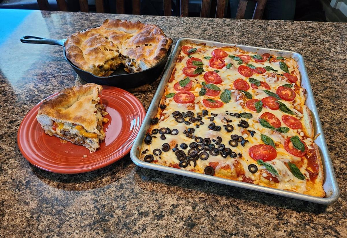Cast-Iron Skillet Calzone and Sheet-pan Pizza with Magic Crust