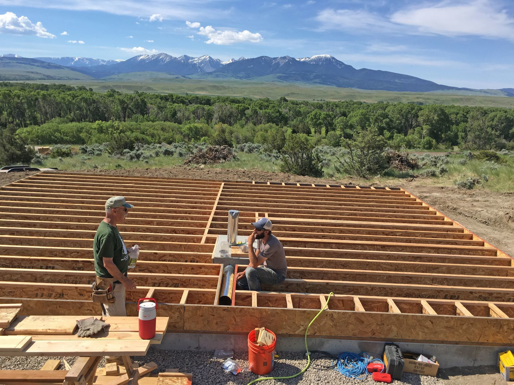 Floor joists & Livingston couple builds solar home featured on DIY Network TV show ...