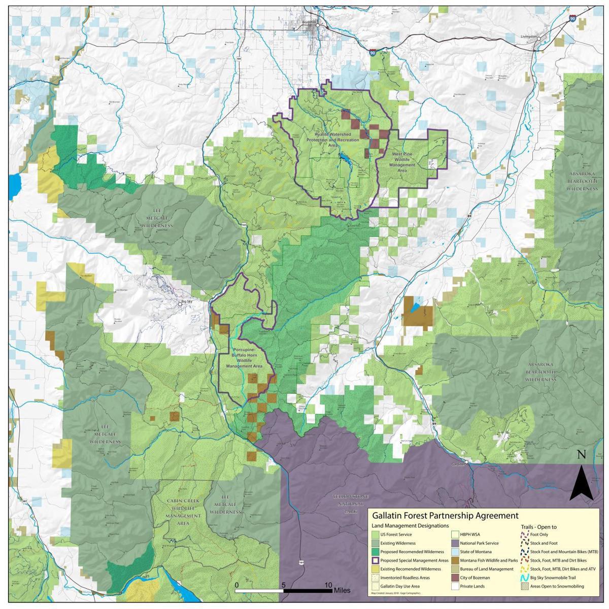 Gallatin Forest Partnership map