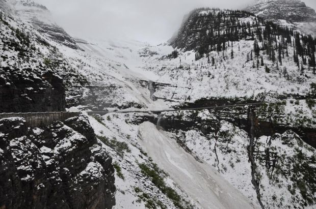 Sun Road avalanches