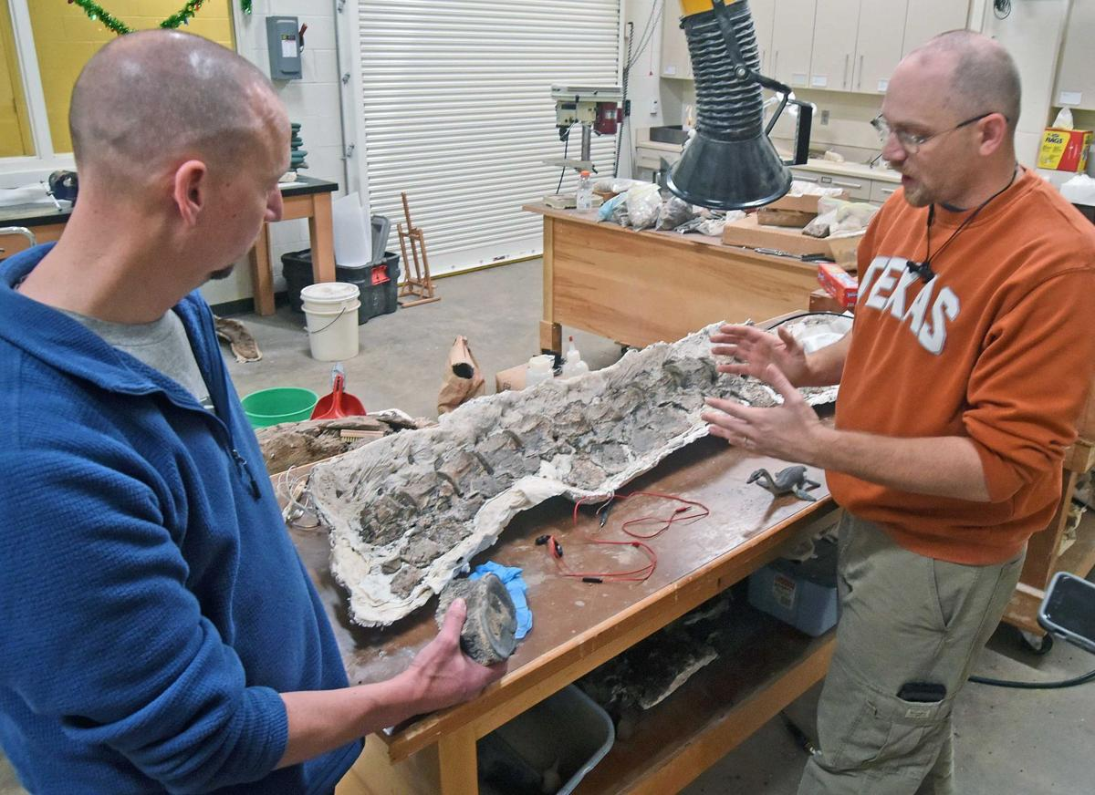 Paleontologists Jeff Person and Clint Boyd