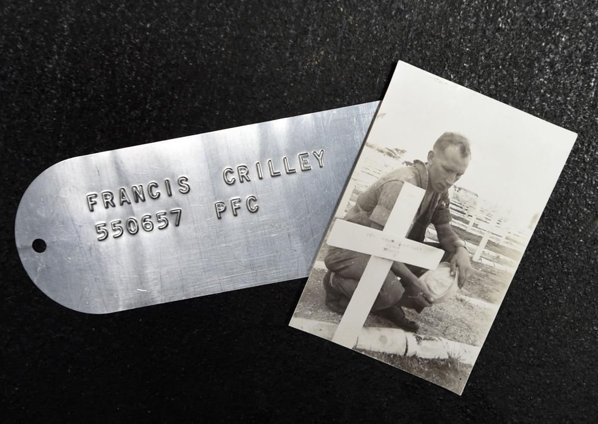 A metal tag